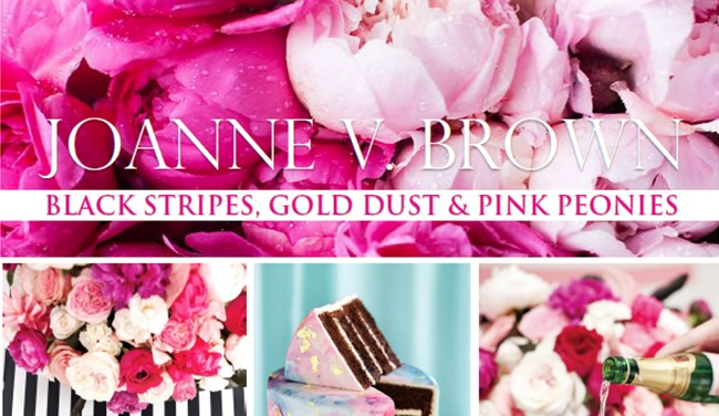 Mood Board 003.17: Black Stripes, Gold Dust & Pink Peonies