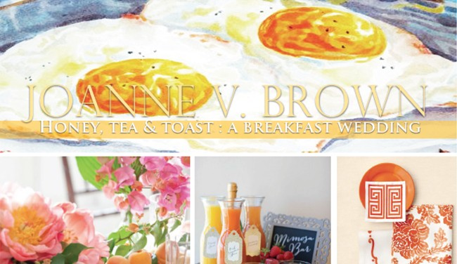 Mood Board 001.17: Honey, Tea & Toast - A Breakfast Wedding